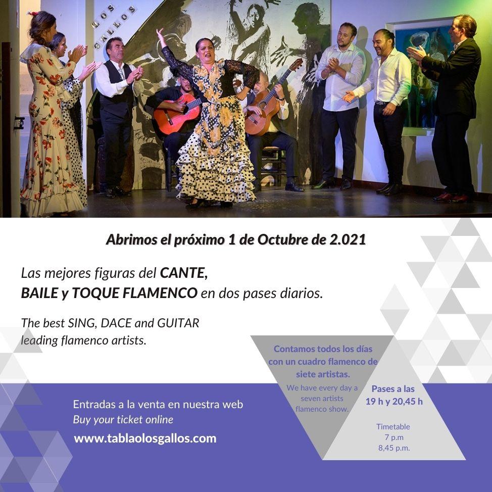 Contamos todos los días con un cuadro flamenco de siete artistas - Inicio Flamenco Sevilla